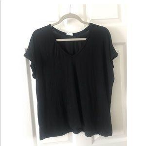 Zara TRF Super Soft Tee in Black | Size M